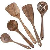 Juego de utensilios de cocina de madera, juego de 5 utensilios de cocina, herramientas...