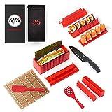 AYA Kit para Hacer Sushi - Equipo para Hacer Sushi Edición Cuchillo de Sushi y Tutoriales...