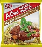 A-ONE Fideos Instantáneos, Sabor Carne de Res 80 g