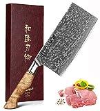 HEZHEN-Cuchillo De Cocina Para Verduras, Carne, Chef, Chino, 7 Pulgadas, Cuchillo De...
