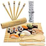 BESTZY 10pcs Kit para Hacer Sushi de Bambú Preparar Sushi Fácil Y Profesional con Este...