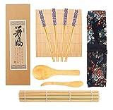 Kit Sushi,Opopark 9 Piezas Herramienta para Hacer Sushi de Bambú Kit para Hacer Sushi de...