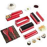 Virklyee Sushi Maker kit 10pcs 5 Formas únicas de Kit para Hacer Sushi Molde Inicio Hacer...