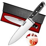 VANERGY - Cuchillo de chef profesional de 20 cm, cuchillo de cocina de acero inoxidable...