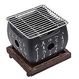 Mini Carbón Barbacoa Parrilla, Mesa Portátil Top Japonés Barbacoa Parrilla Comida...
