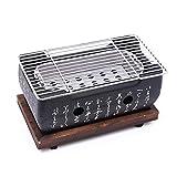 JVSISM Coreano Japonés BBQ Horno de Parrilla Parrilla de carbón de aleación de Aluminio...