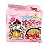 Samyang Carbo Buldak Bokkum Ramen Pack of 5 Hot Spicy Chicken Flavor Ramen with Carbo...