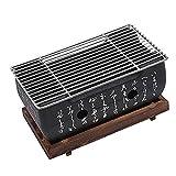 Barbacoa estilo japonés, horno portátil de carbón japonés con rejilla de alambre y...
