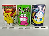3 UNID x Galletas Tohato Doraemon Puku sabor a Queso + Pokemon Pikachu + Shin Chan...